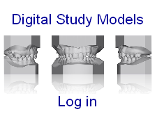 Digital study models - log in